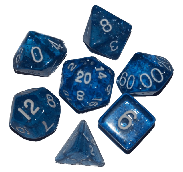 picture royalty free stock Transparent dice blue. Speckled polyhedral set fate