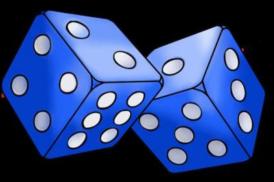 clip art transparent Tales of a tabletop. Transparent dice blue