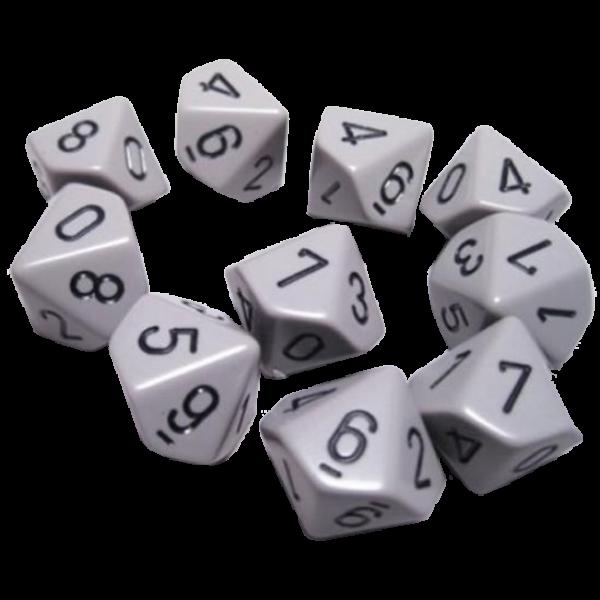 vector free library Transparent dice elven. Set opaque dark grey