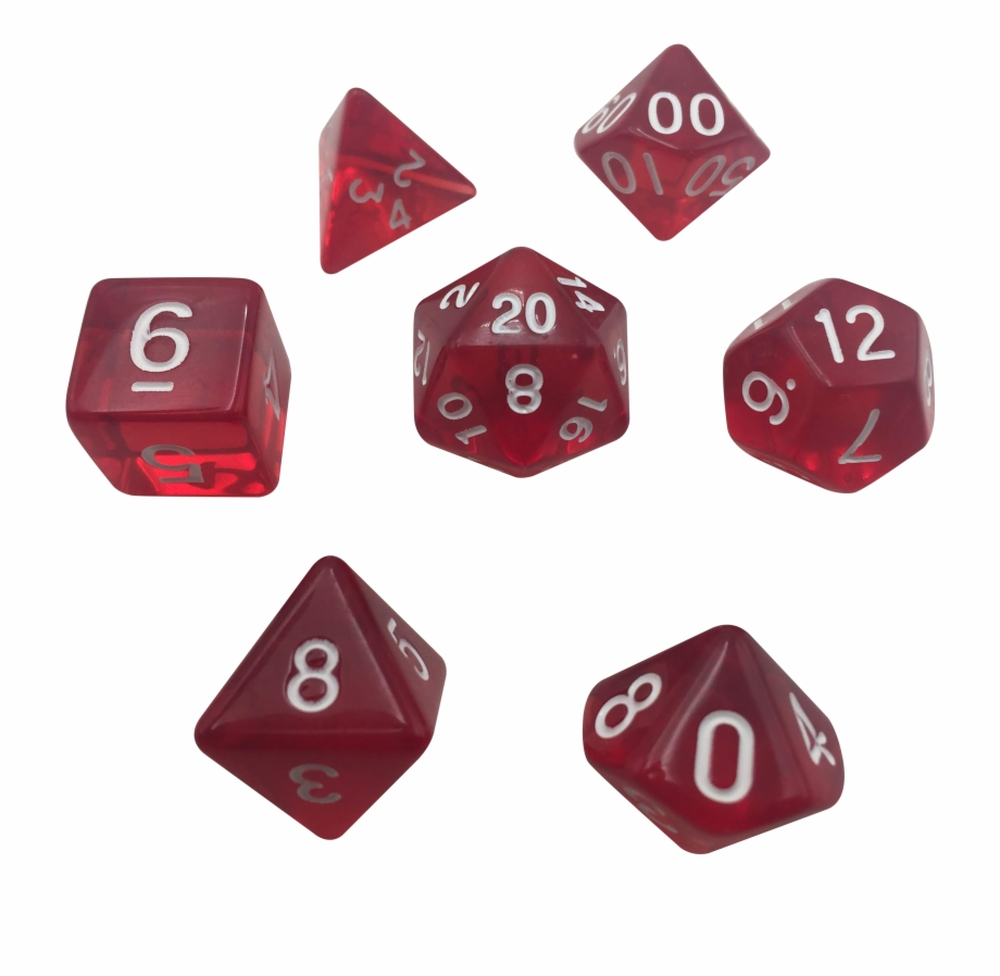 graphic transparent Transparent dice red translucent. Color set png free