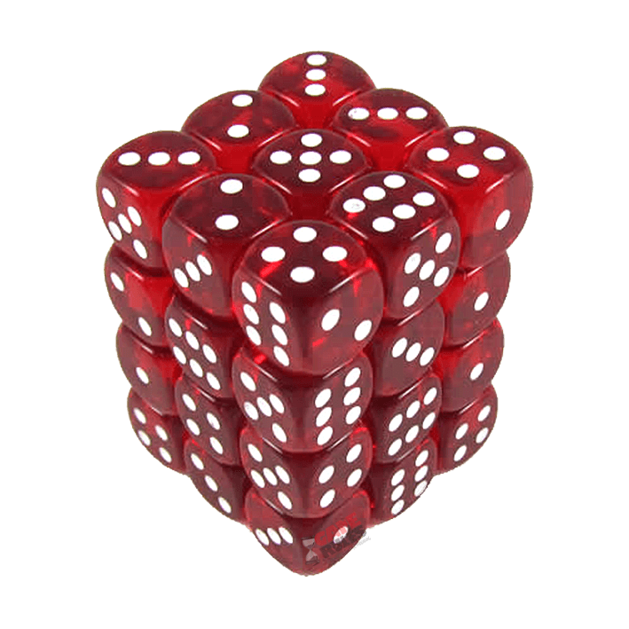 clip art library download D mm white x. Transparent dice red translucent