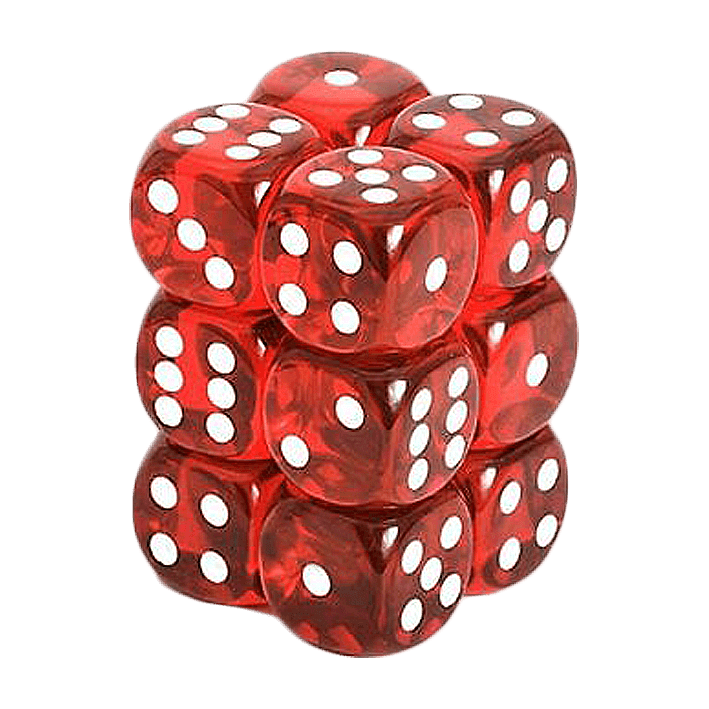 svg stock Transparent dice red translucent. Set white x