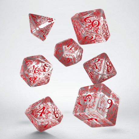 png royalty free download Elvish set . Transparent dice red translucent
