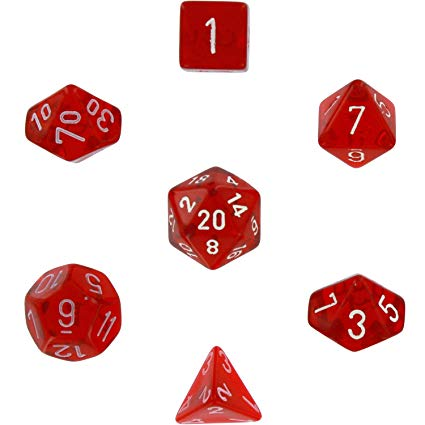 png royalty free download Transparent dice red translucent. Chessex polyhedral die set