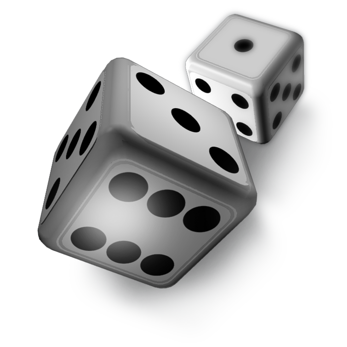 clipart free Png pictures free icons. Transparent dice white