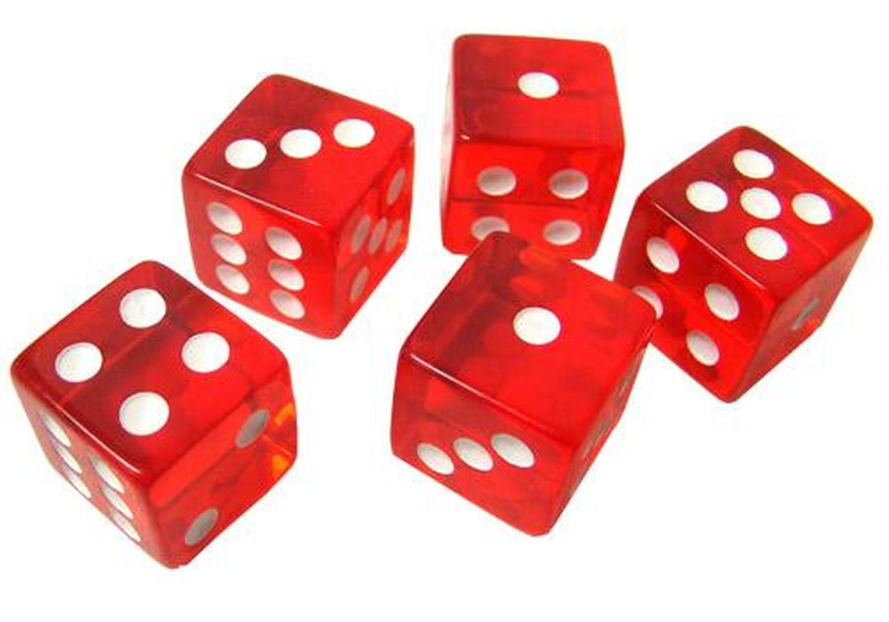 graphic free stock Transparent dice. Set of red d
