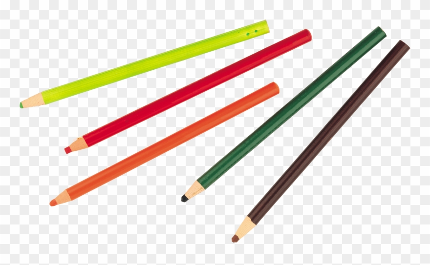 image freeuse library Transparent draw color. Pencil clipart five png
