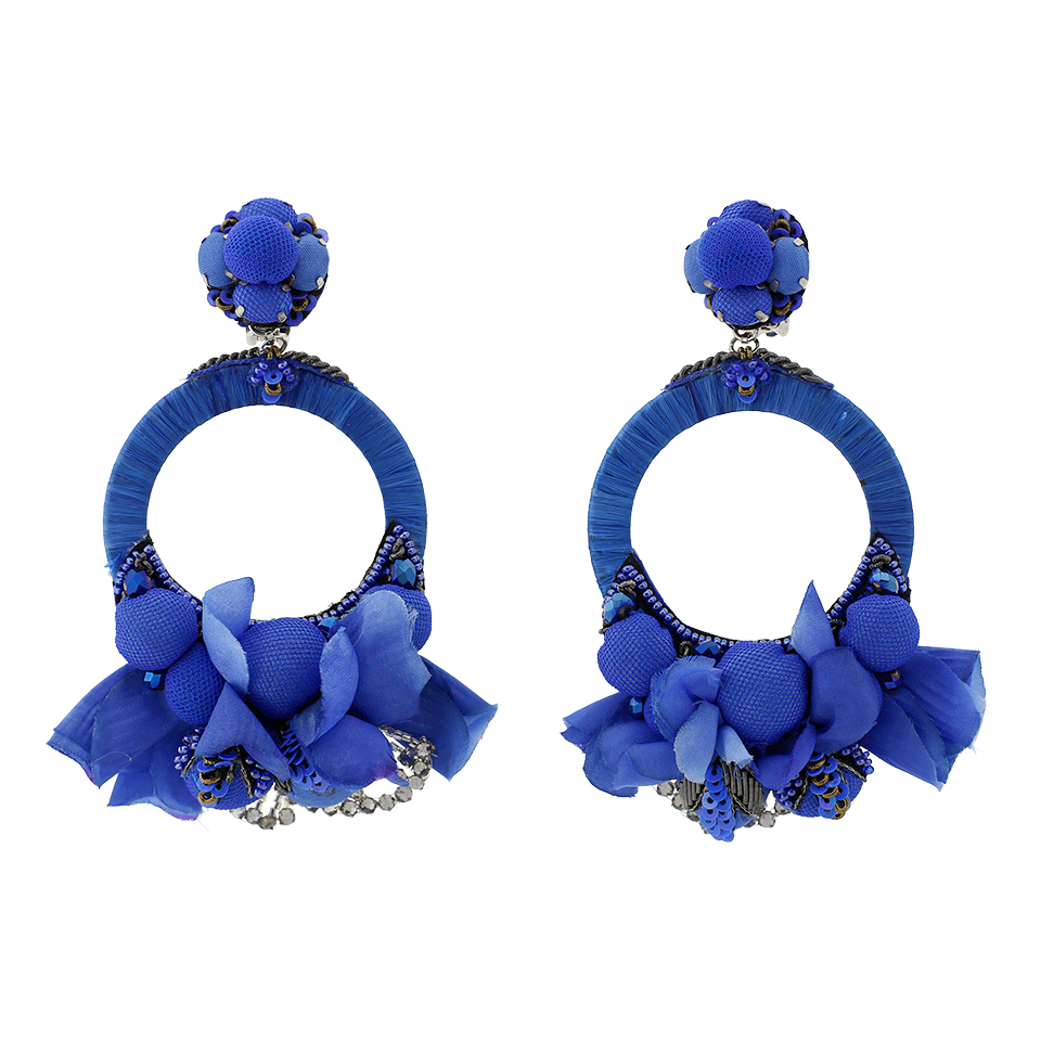 clip transparent stock Transparent earrings blue flower. Marissa collections another fashion