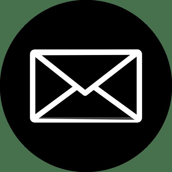 clip transparent download Email Icon Black Circle Envelope transparent PNG