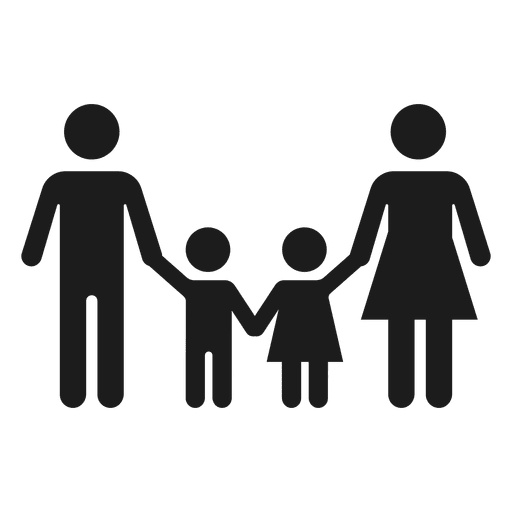 banner stock Family with two children icon