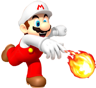 vector free download Fire Mario