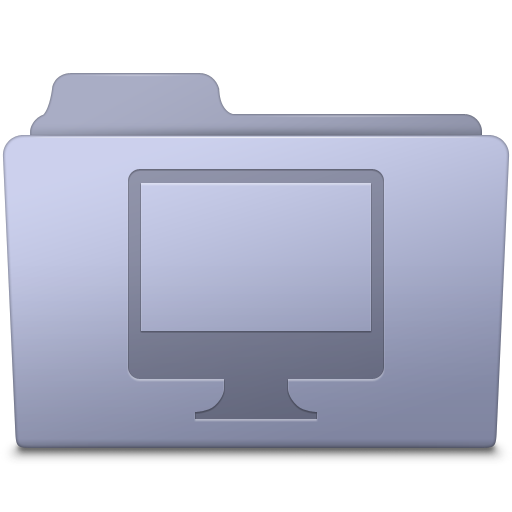image download Computer Folder Lavender Icon