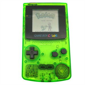 banner library stock Transparent gameboy. Details about green refurbished.