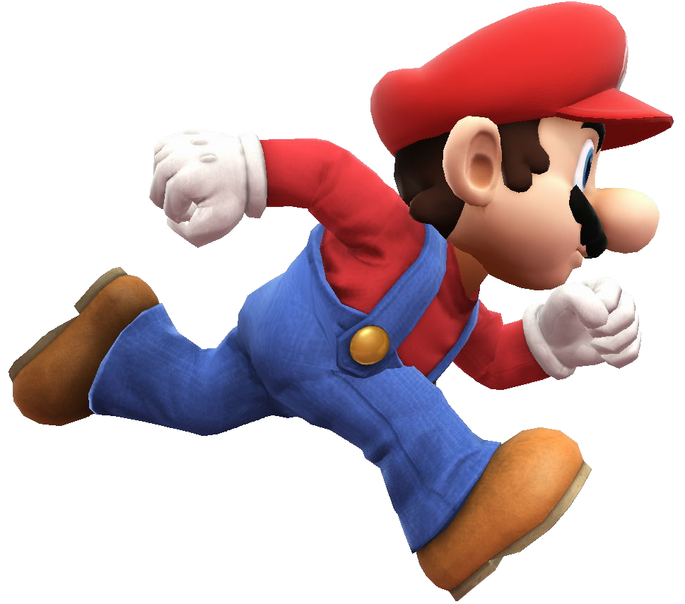 stock transparent mario running #106068798