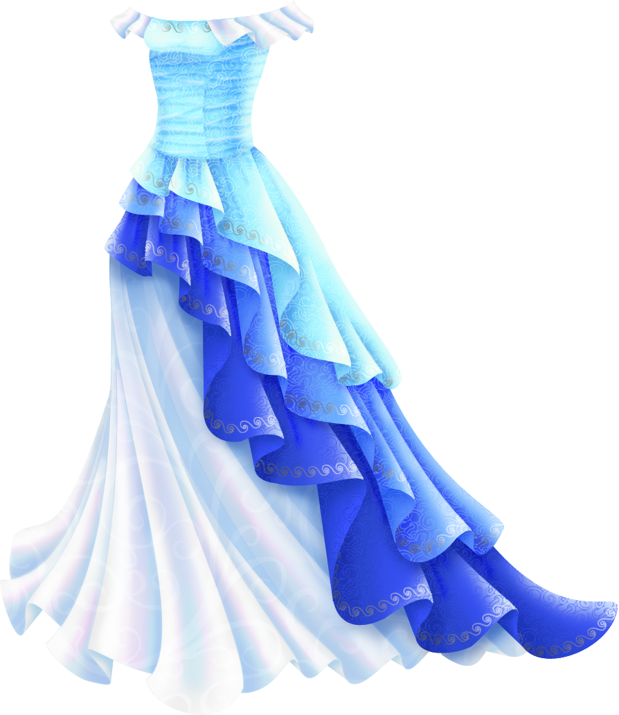 picture royalty free library  blue for free. Drawing ruffles dress