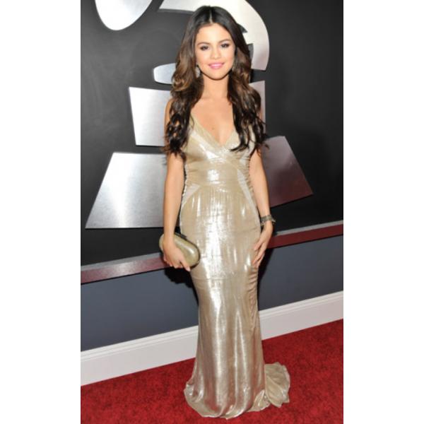graphic black and white stock Selena gomez champagne v. Dress transparent celebrity