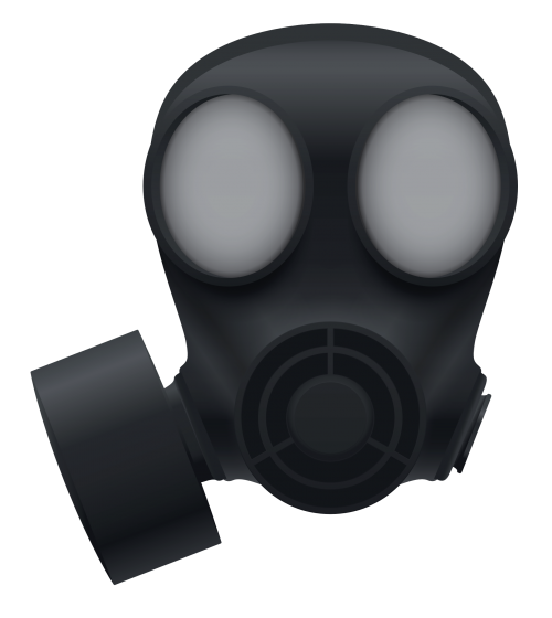 banner transparent stock Gas mask PNG