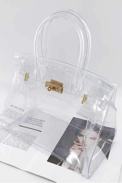 image library stock Transparent handbag. Wearvip ol fashion jelly