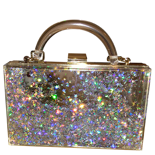 vector freeuse download All that glitters waterfall. Transparent handbag