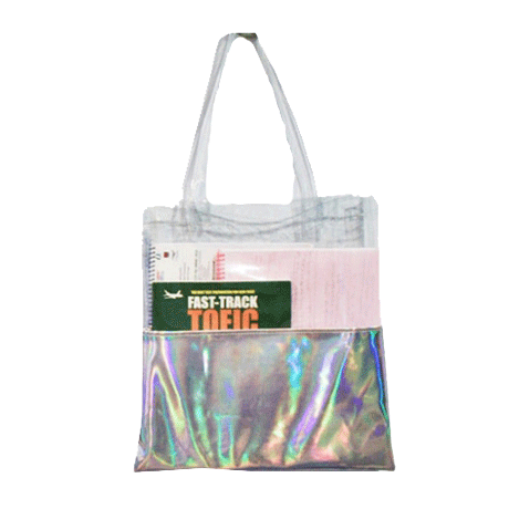 jpg black and white download Itgirl shop hologram laser. Transparent bags tote.