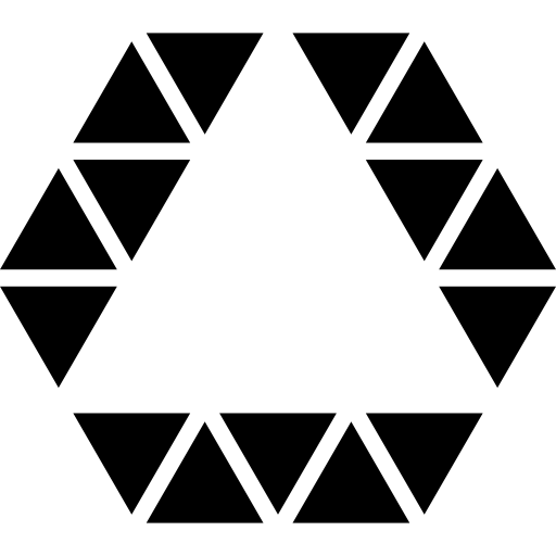 png freeuse download Triangle inside hexagon shape outline of small triangles line