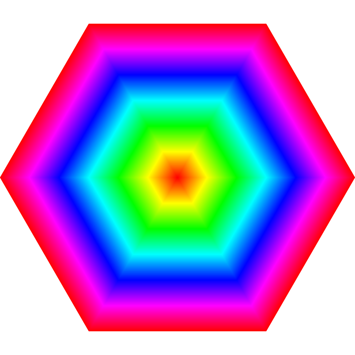 image library download hexagon rainbow target by