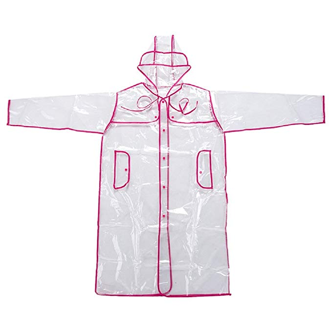 royalty free Transparent hoodie clear. Lipovolt unisex rainwear runway