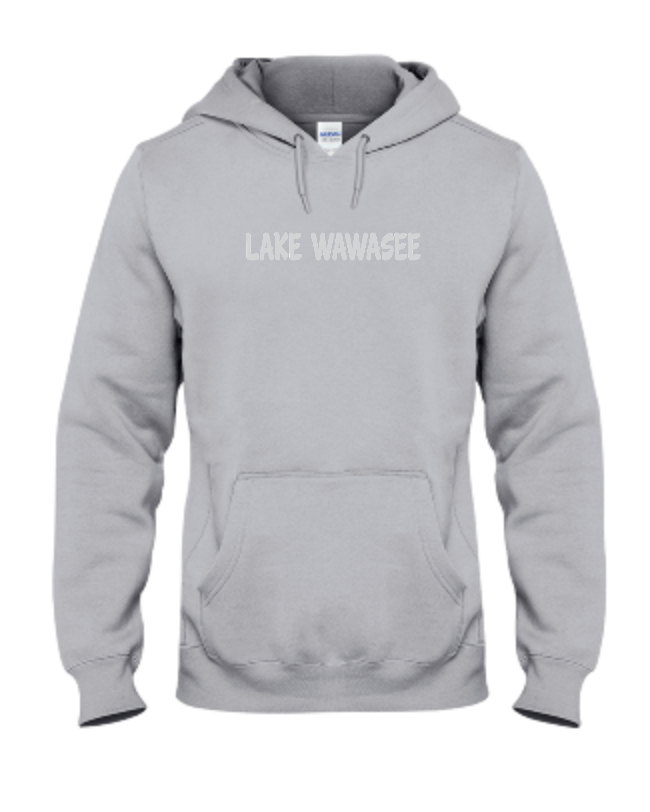 svg stock Lake wawasee sweatshirt ash. Transparent hoodie grey