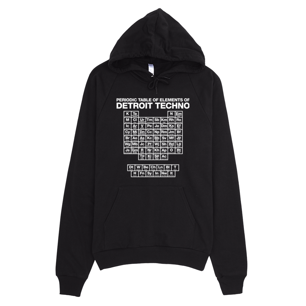 clip art freeuse library Periodic Table of Techno Elements Hoodie