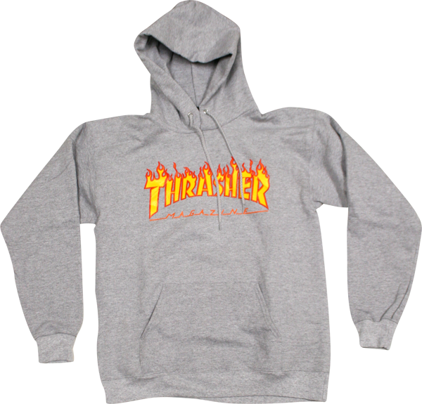 picture library stock Transparent hoodie thrasher. Flames hd hoody grey
