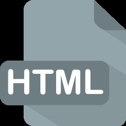 transparent stock Flat file type iconset. Transparent html icon.