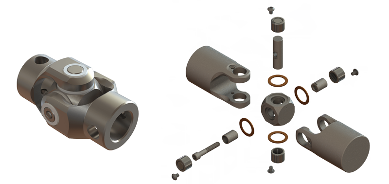 svg black and white Custom Precision Universal Joints