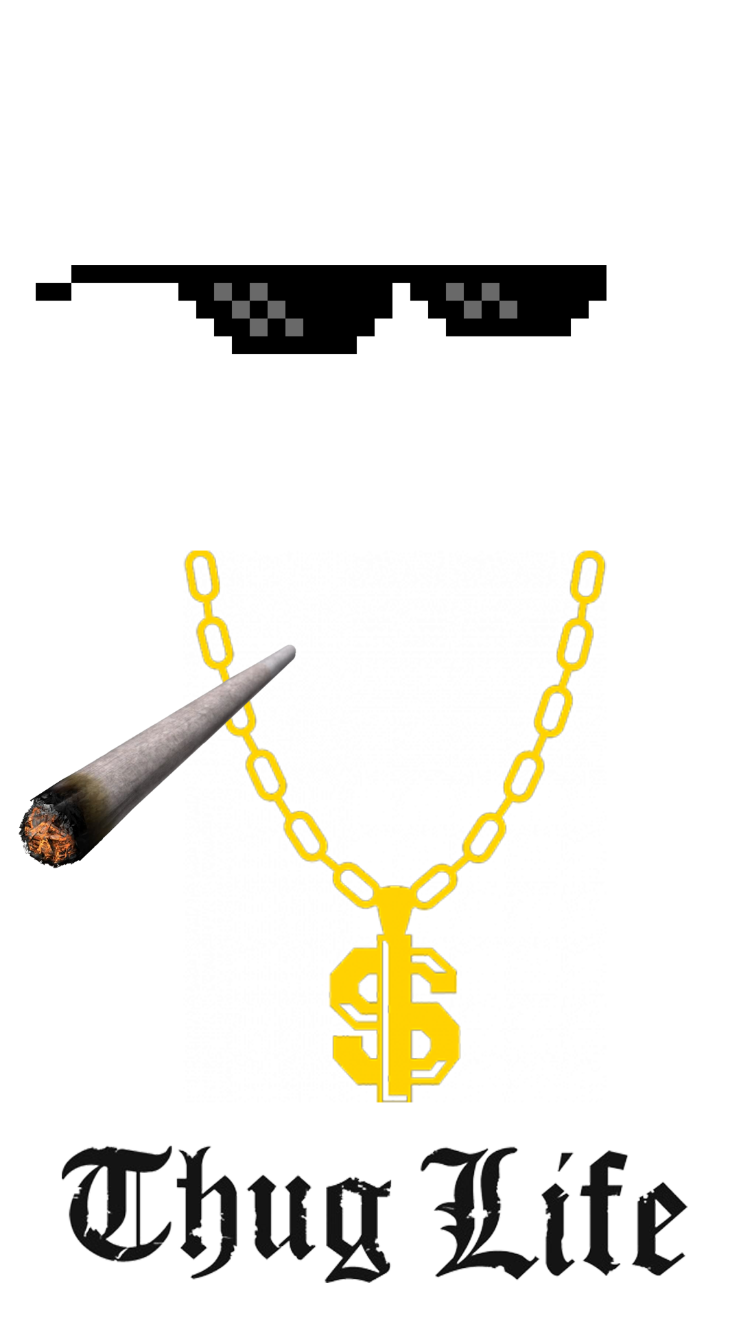 clip art black and white library Thug Life HD Image