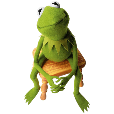 download Kermit the Frog on Stool transparent PNG