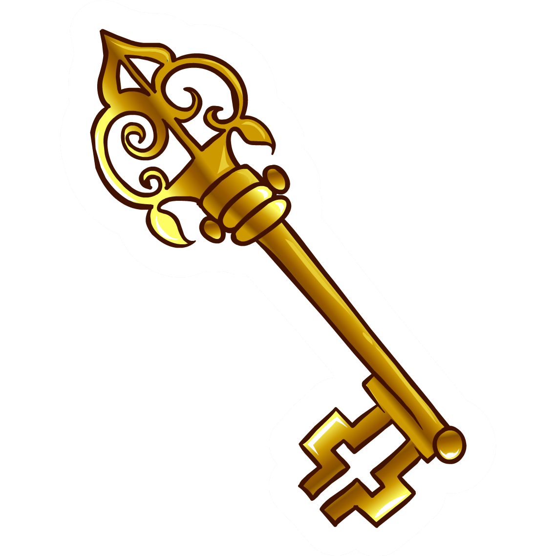 vector transparent  keys transparent fashioned. Old key clipart