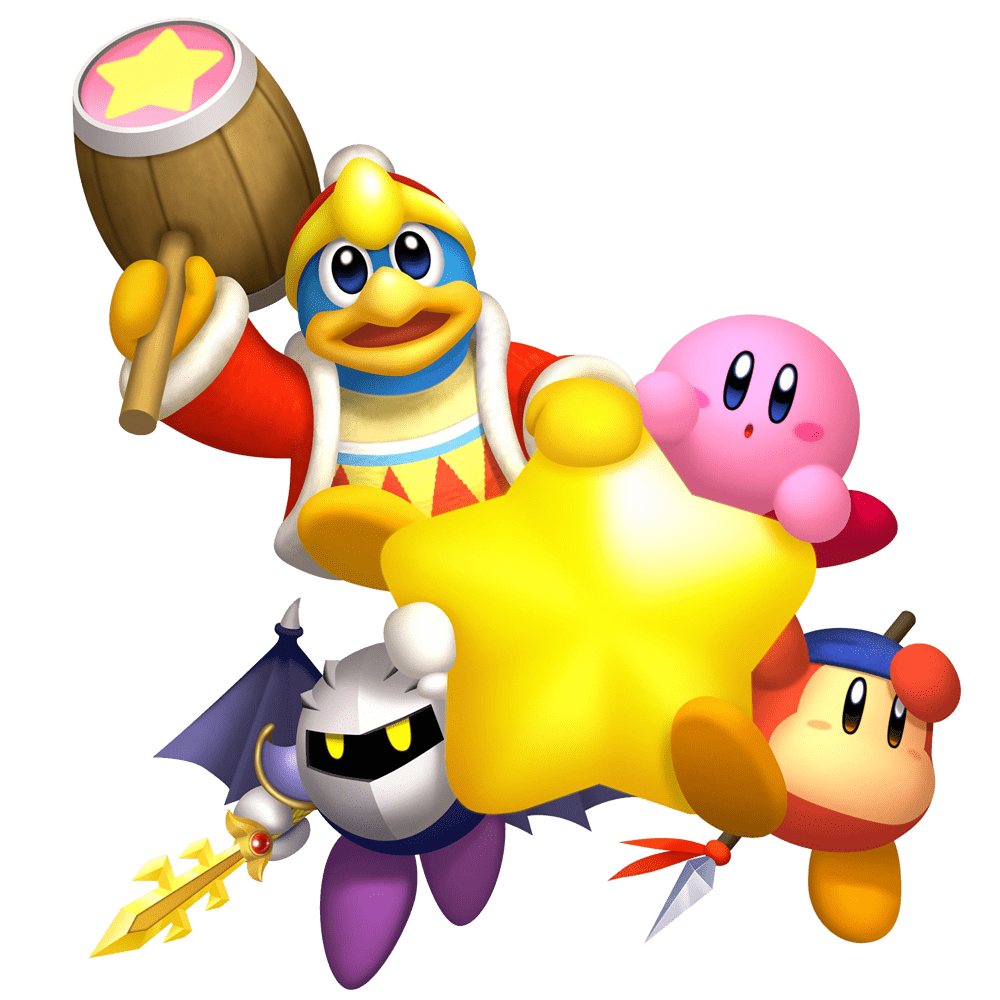 clipart free stock Kirby Characters With Star transparent PNG