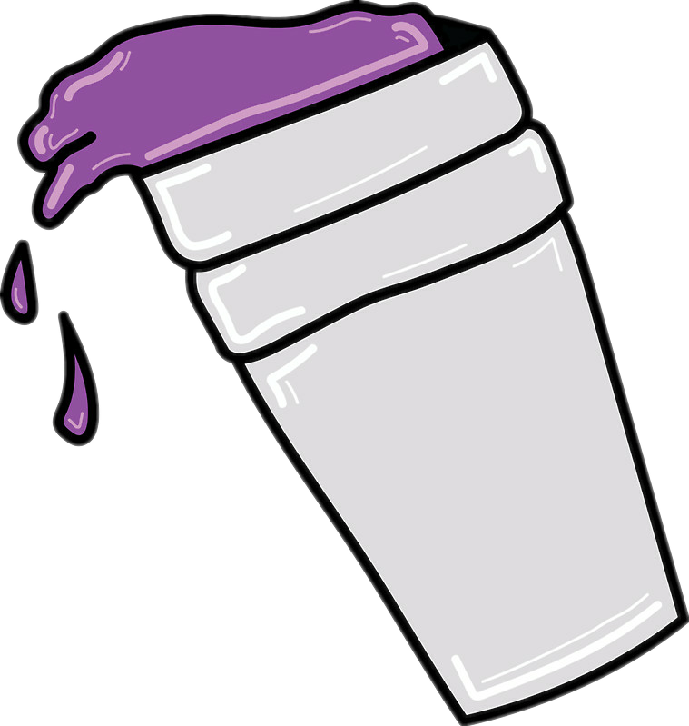 svg transparent download Transparent lean clipart. Purple drank drawing cup.