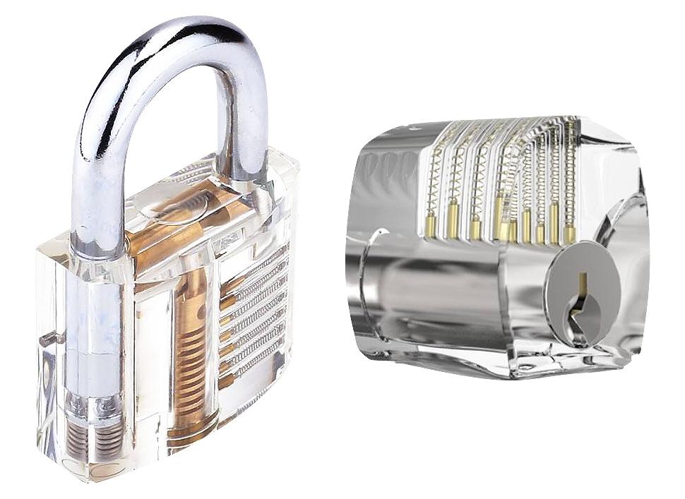 jpg stock Clear practice . Transparent locks.