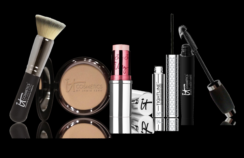 banner transparent Kit products png transparent. Beauty vector makeup item