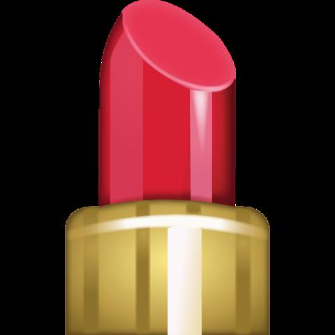 clip black and white Vector emojis lipstick. Emoji