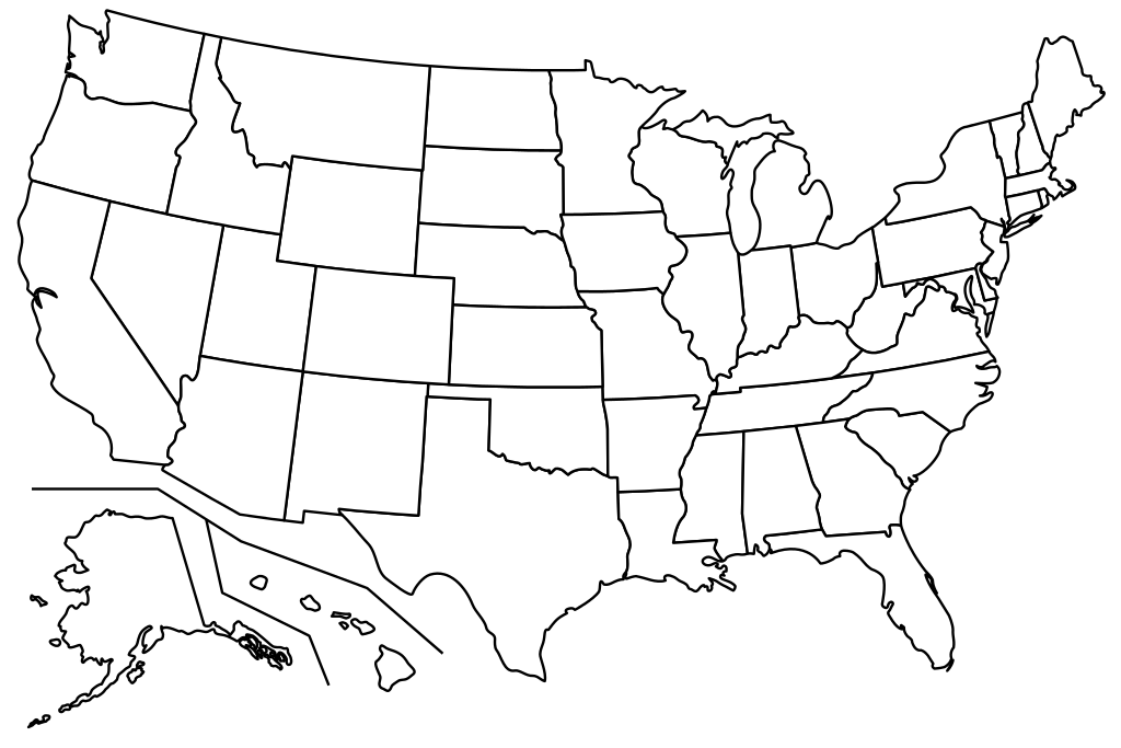 clip royalty free library Usa svg states. File blank us map