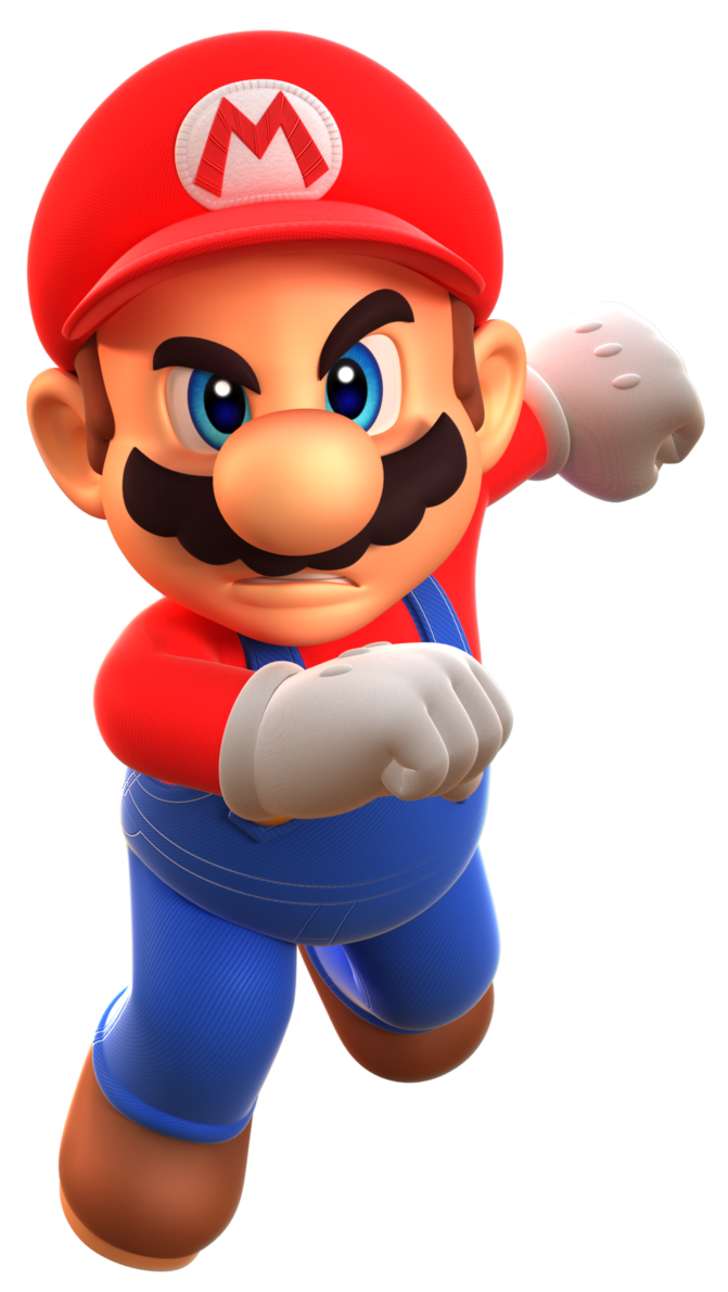 jpg black and white library Forces d render by. Transparent mario