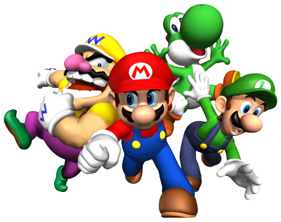 clipart stock Mario And Friends Render by SuperFlash
