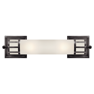 graphic freeuse library Medium Sconce in Bronze with Frosted Glass