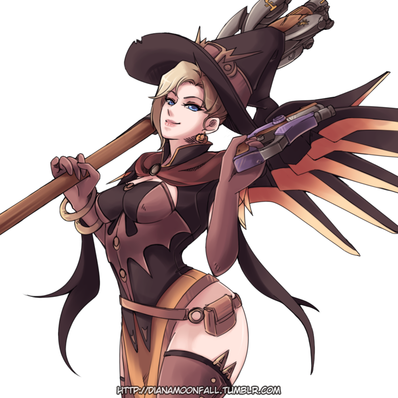 clip art library transparent mercy anime witch #117078691