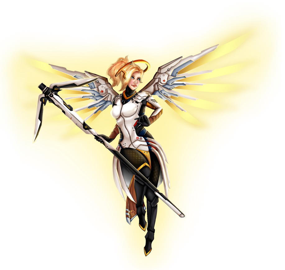 graphic black and white library transparent mercy overwatch character #117076812