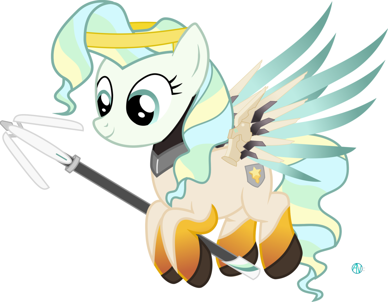 picture black and white library transparent mercy pony #117079076