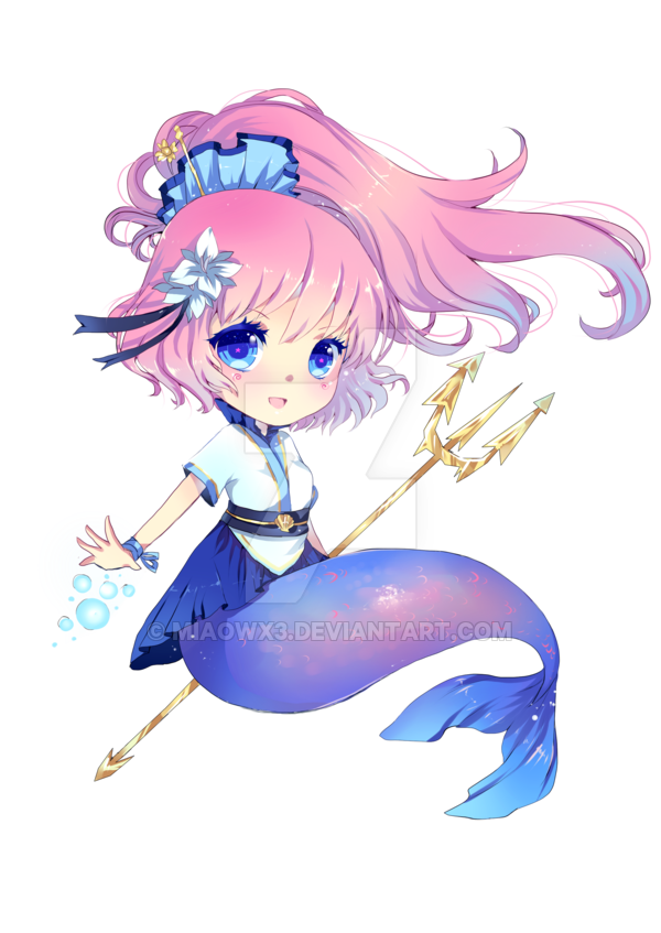 free mermaid mascot for german con by MIAOWx