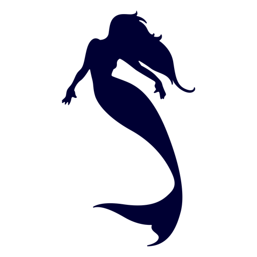 clip royalty free download Mermaid swimming silhouette