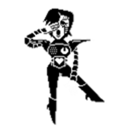 picture black and white library Transparent Mettaton Pose